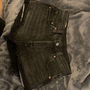Black wash Levi's shorts